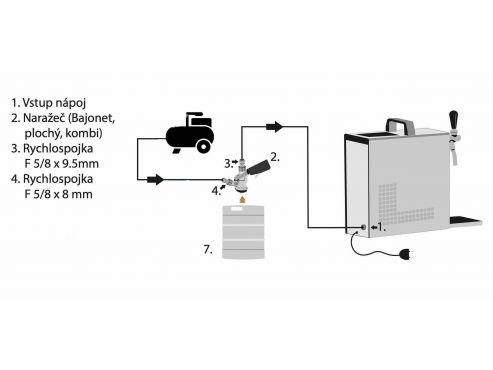 zapojení s externím kompresorem