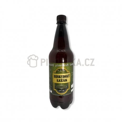 Beskydský ležák 12° PET 1l Beskydský pivovárek