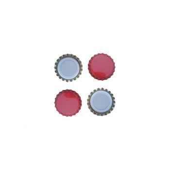 Korunkové uzávěry 26mm červené 200ks