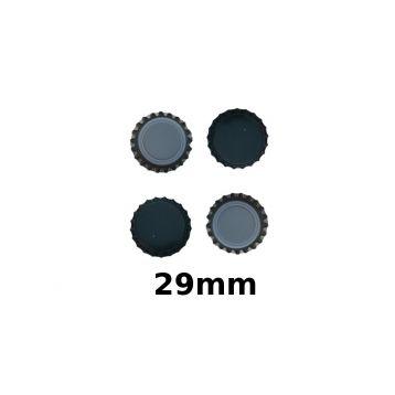 Korunkové uzávěry zelené  29mm 200ks