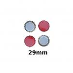 Korunkové uzávěry 29mm červené 200ks