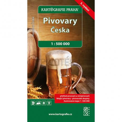 Mapa pivovaru ČR 4. vydání