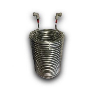 Chladič mladiny  smyčka 23metrů + rychlospojky 9,5mm