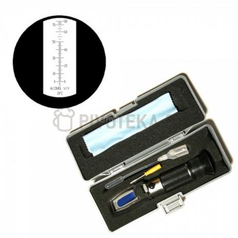 Refraktometr na měření objemových procent alkoholu