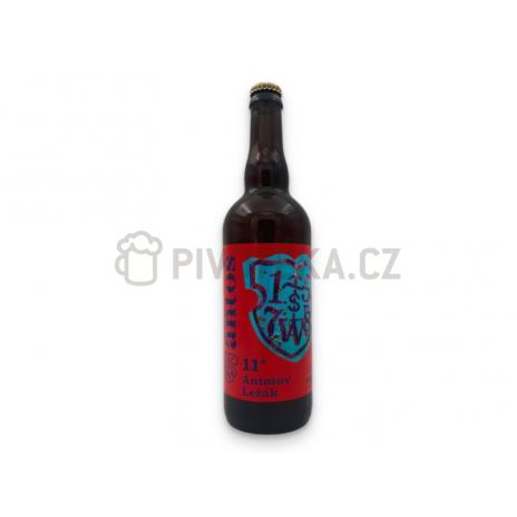 Antošův ležák  11° 0,7l pivovar Antoš