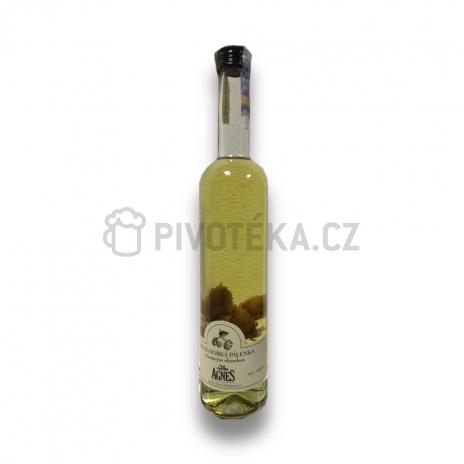 Pivní hořká pálenka s čerstvým chmelem Agnes 0,5l, 45%