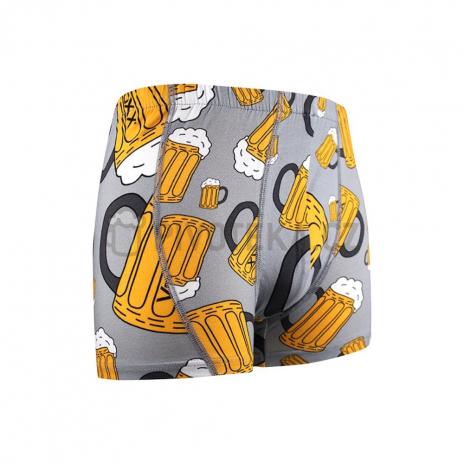 Boxerky pivo -světle šedé velikost XXL