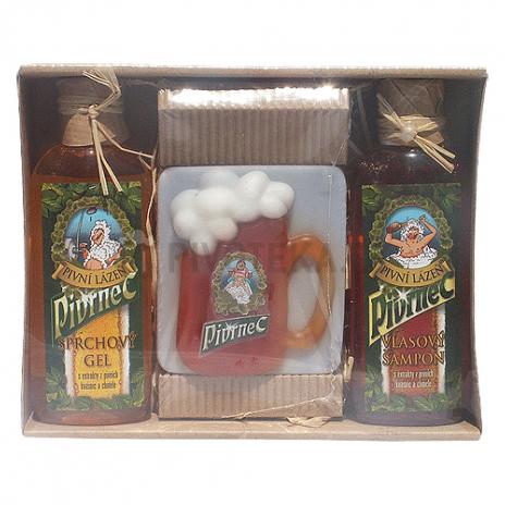 """Pivrnec """"mini"""" dárkové balení gel, mýdlo, šampón"""