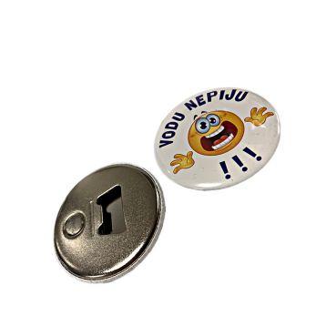 """Button s otvírákem magnet """"vodu nepiju"""""""