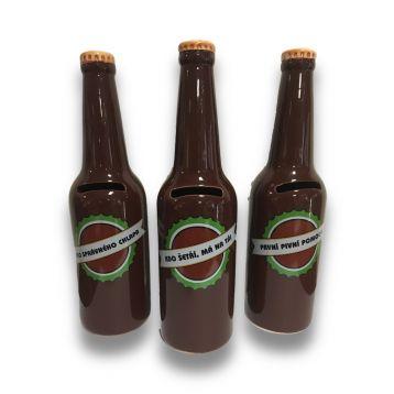 Pokladnička na pivo láhev