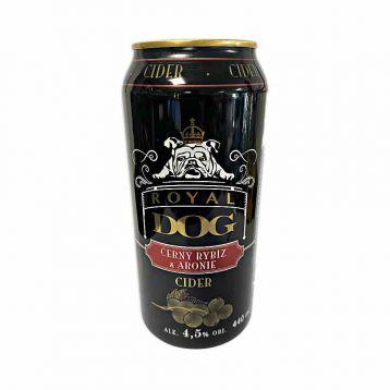 Royal dog cider plech černý rybíz a Arione 0,44l