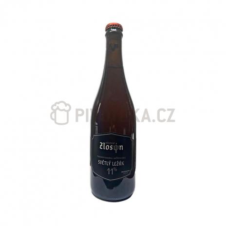 Světlý ležák 11° 0,7l pivovar Zlosin