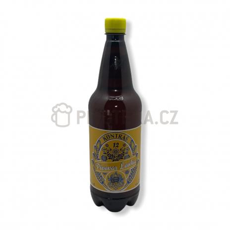 Kontráš 12° 1l PET pivovar Louka