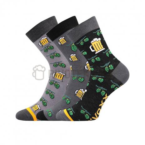 Ponožky pivo 3 MIX velikost 39-42 3 páry