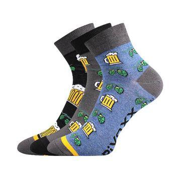 Ponožky pivo 01 MIX velikost 43-46 3 páry