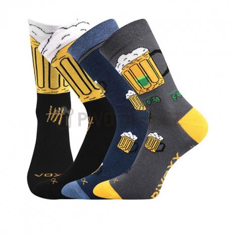 Ponožky pivo 5 MIX velikost 43-46 3 páry