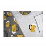 Pyžamo pivo krátký rukáv vel. XL  vzor pivo tisk