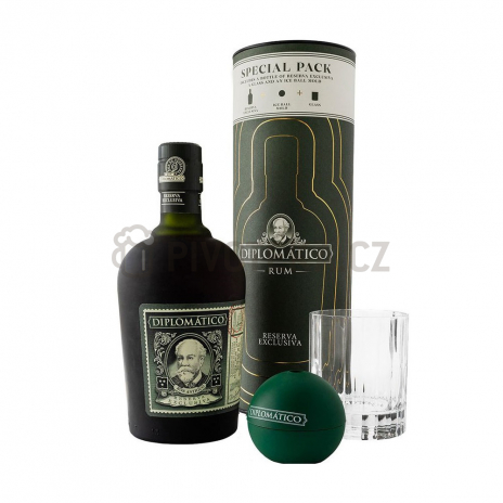 Diplomatico Reserva Exclusiva Tuba Old Fashioned + 1x sklo 0,7l 40%