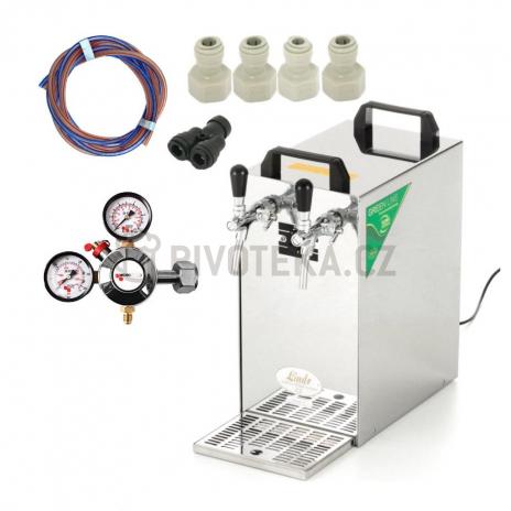 Lindr kontakt 40 rychlopspojky +redukční ventil CO2