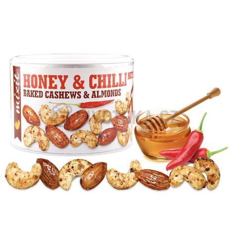 Oříšky z pece med a chilli Mixit 140g