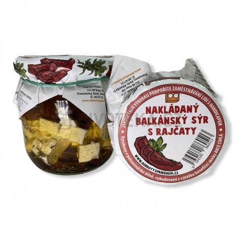 Nakládaný balkánský sýr s rajčaty 200g