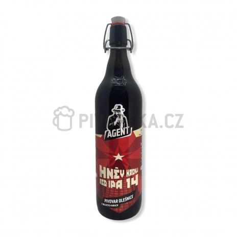 Hněv Kremlu RED IPA 14°  1l patent pivovar Agent