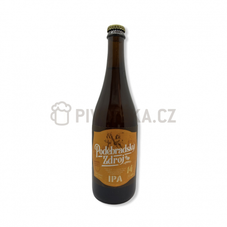IPA 14° 0,7l pivovar Poděbrady