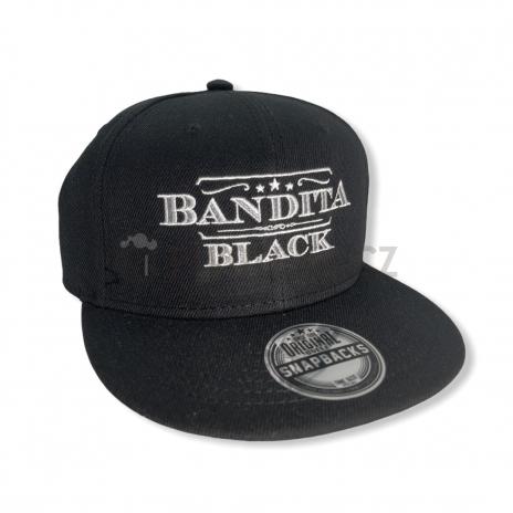 Čepice kšilt Bandita black černá