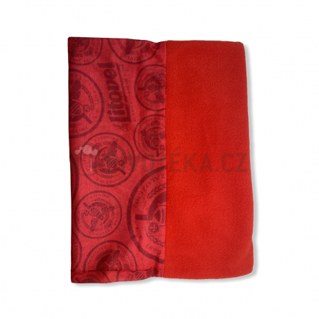 Multifunkční šátek Litovel červený