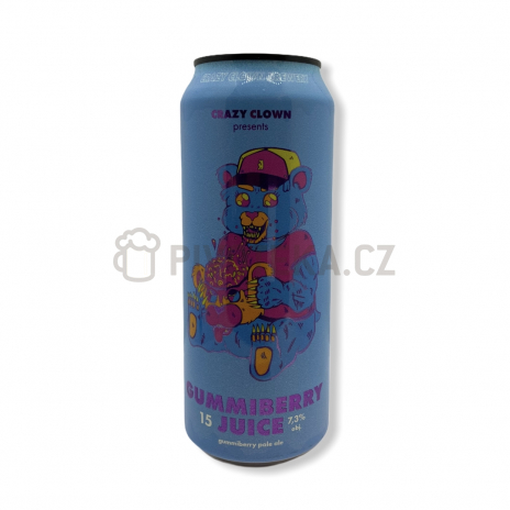 Gummiberry Juice  15° 0,5l Crazy Clown