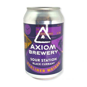 Sour Station Black Curant 10° 0,3l plechovka Axiom Brewery