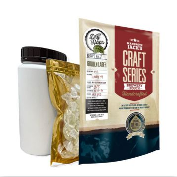 Set Craft Series Golden Lager Dry hops 1,8kg Mangrove Jack´s koncentrát