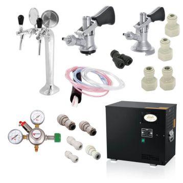 Domácí hospoda Lindr AS-40 2x nápoj +redukční ventil N2 (biogon)