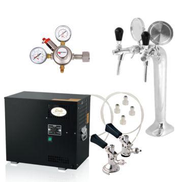 Kompletní sestava Lindr AS-80 2x chladící smyčka + redukční ventil CO2