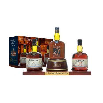 El Dorado Rum display 3 x 0,7l  12-15-21 YO