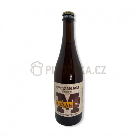 Ležák 11° 0,7l pivovar Máša Řevníčov