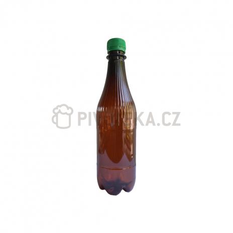 PET láhve  hnědé  0,5l + uzávěr