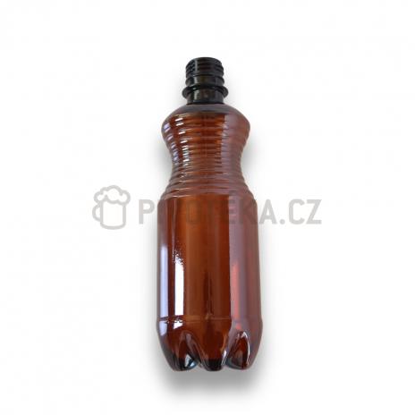 PET láhve  hnědé  0,5l bez uzávěru