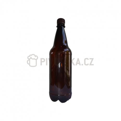 PET láhve  hnědé  1l + uzávěr 30ks