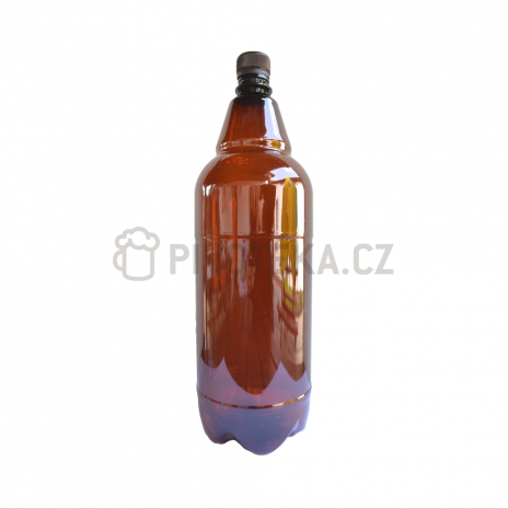 PET láhve  hnědé  2l + uzávěr
