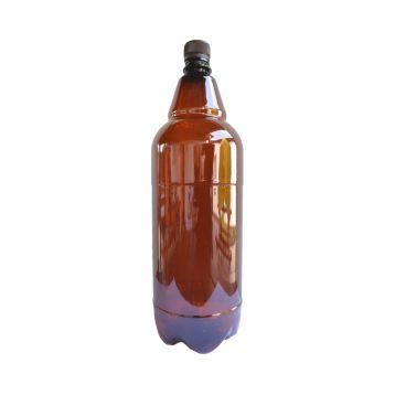 PET láhve  hnědé  2l + uzávěr 15ks