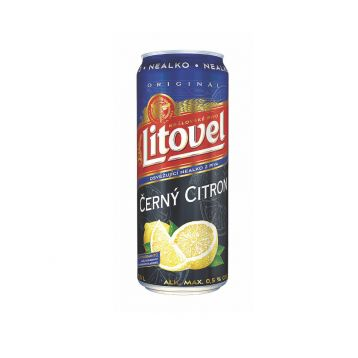 Černý citron free  0,5l plech Litovel