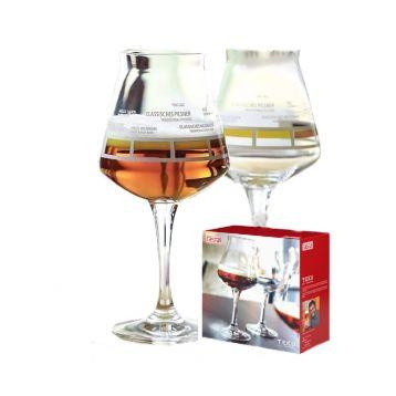 Dárkové balení 2 x sklenice teku s degustační barevnou škálou