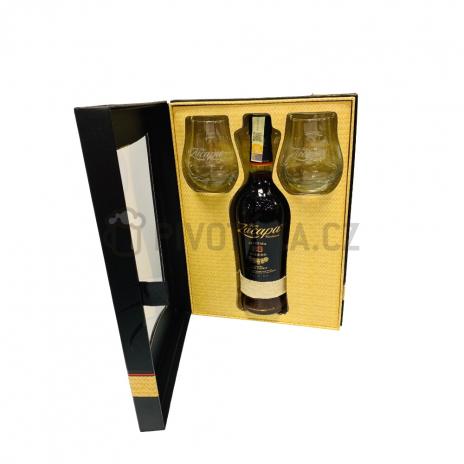 Zacapa 23 Centenario 0,7l 40% Gift box papír+2x sklenice