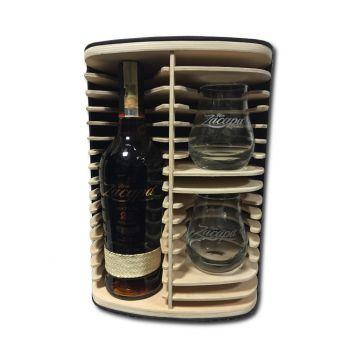 Zacapa 23 Centenario 0,7l 40% Gift Box Dřevo + 2x sklenice