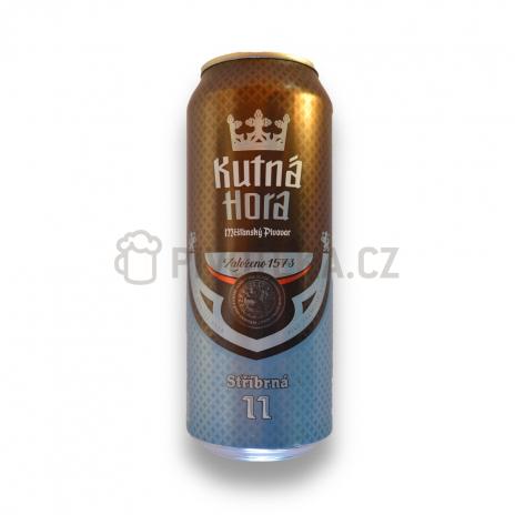 Stříbrná  11°  0,5l plech pivovar Kutná hora