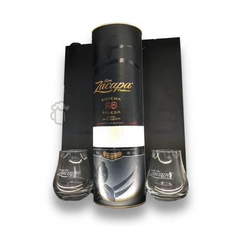 Zacapa 23 Centenario 1l 40% Taška + 2x sklenice